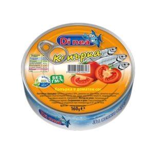 Копърка ДИ НИА 160гр в доматен сос RodinaShop Българския Онлайн Магазин в Германия RodinaShop Българския Онлайн Магазин в Германия