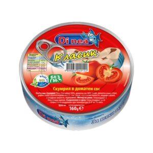 Скумрия ДИ НИА 160гр в доматен сос RodinaShop Българския Онлайн Магазин в Германия