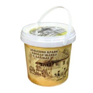 Домашно кисело мляко с каймак 1,1кг БОР ЧВОР RodinaShop Българския Онлайн Магазин в Германия