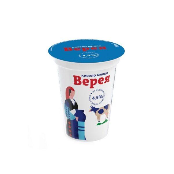 Кисело мляко ВЕРЕЯ масленост 4,5% Rodinashop Български Магазин в Германия