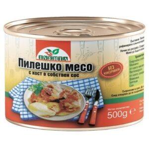 Пилешко в собствен сос 0,500кг ИВЕРТА RodinaShop.de Българския магазин в Германия
